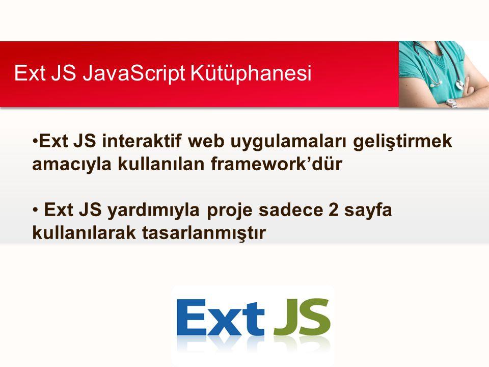 Ext JS JavaScript Kütüphanesi