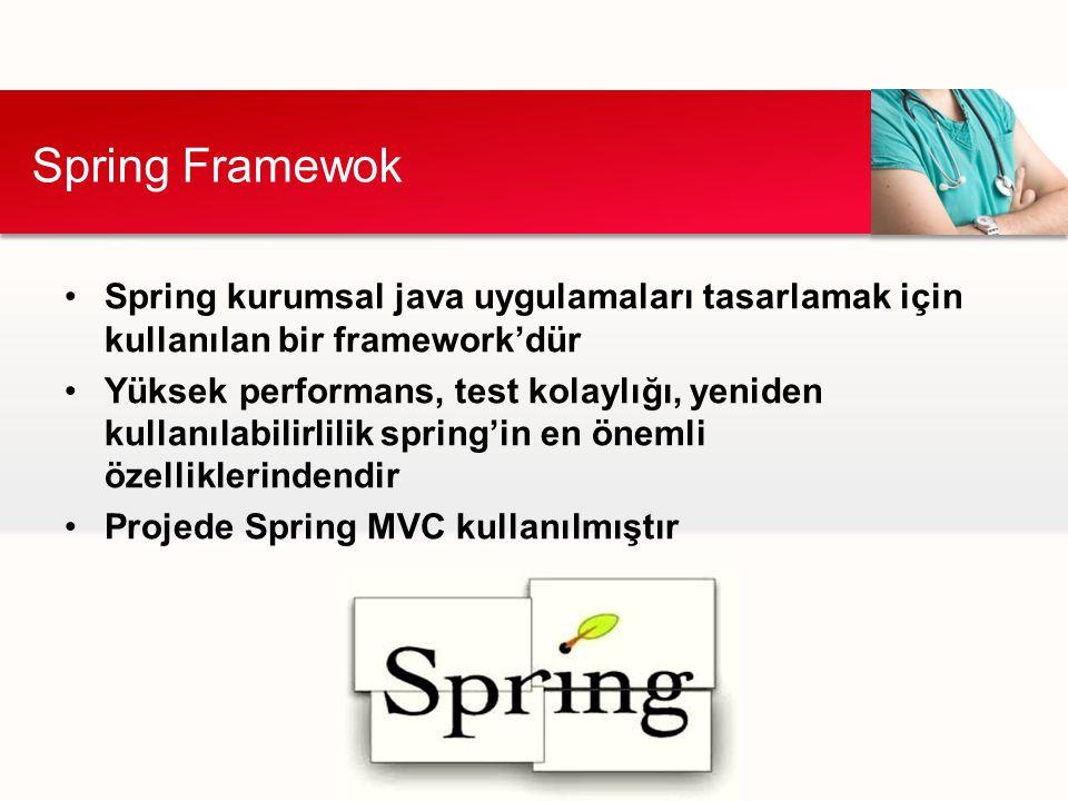 Spring Framewok Spring kurumsal java uygulamaları tasarlamak için kullanılan bir framework'dür.