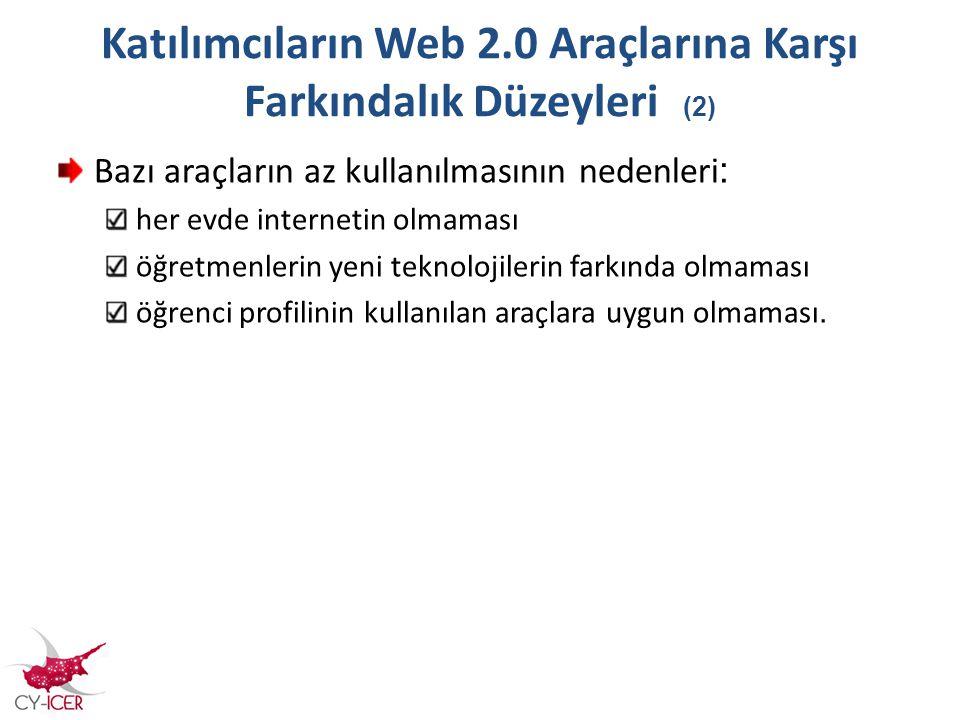 Katılımcıların Web 2.0 Araçlarına Karşı Farkındalık Düzeyleri (2)