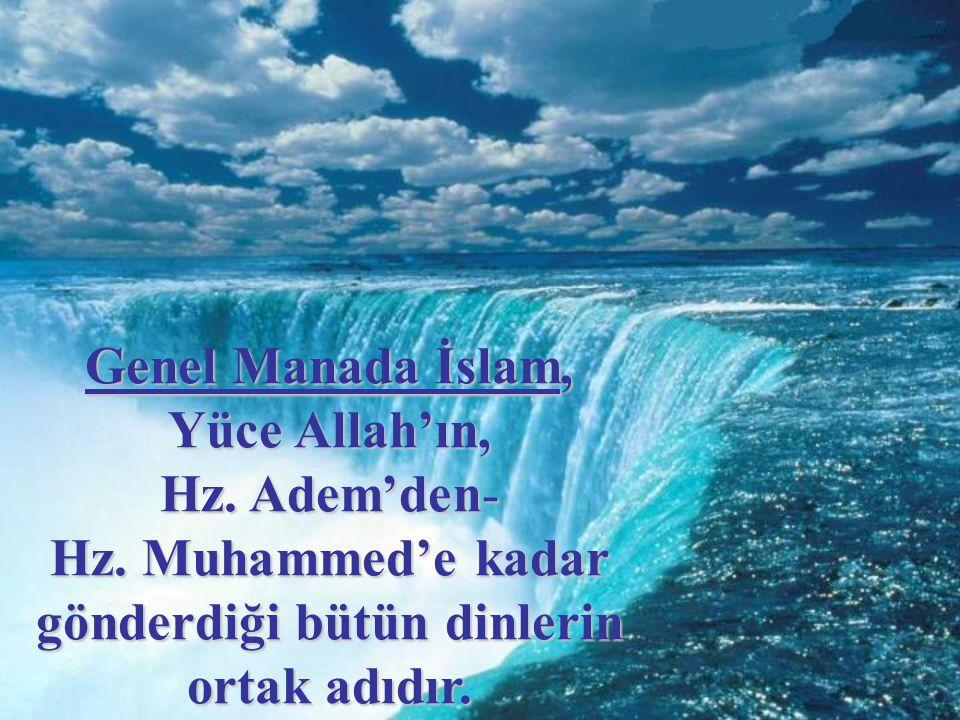 Genel Manada İslam, Yüce Allah'ın,