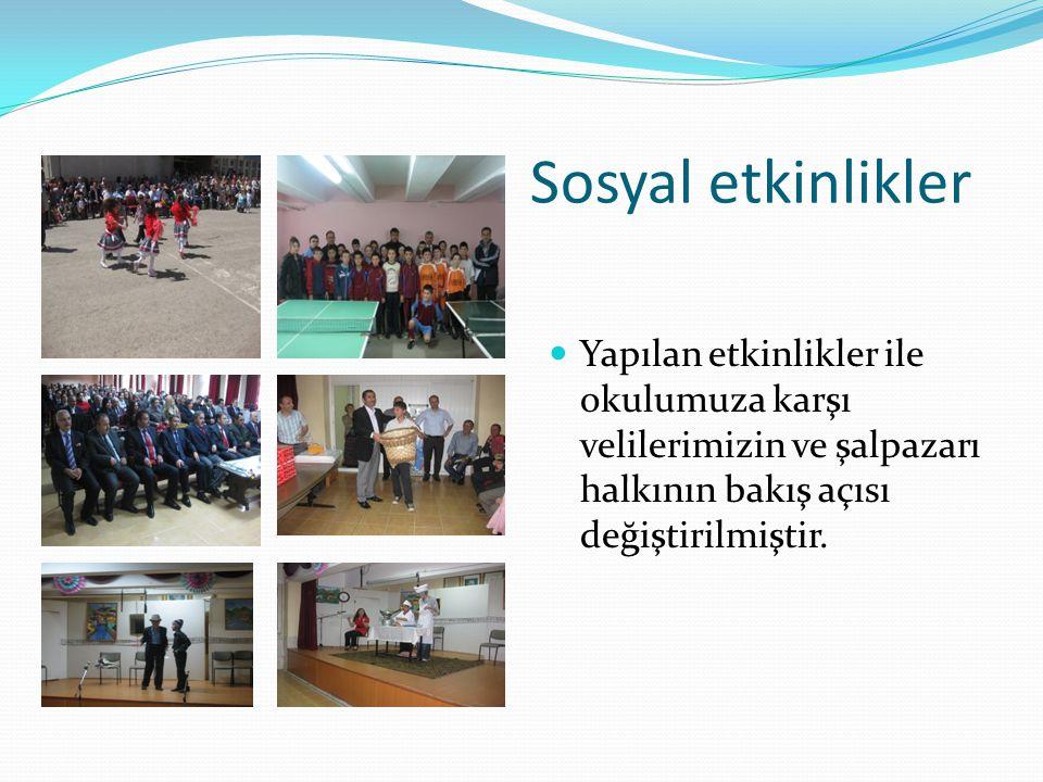 Sosyal etkinlikler Yapılan etkinlikler ile okulumuza karşı velilerimizin ve şalpazarı halkının bakış açısı değiştirilmiştir.