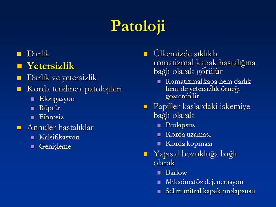 Patoloji Yetersizlik Darlık Darlık ve yetersizlik