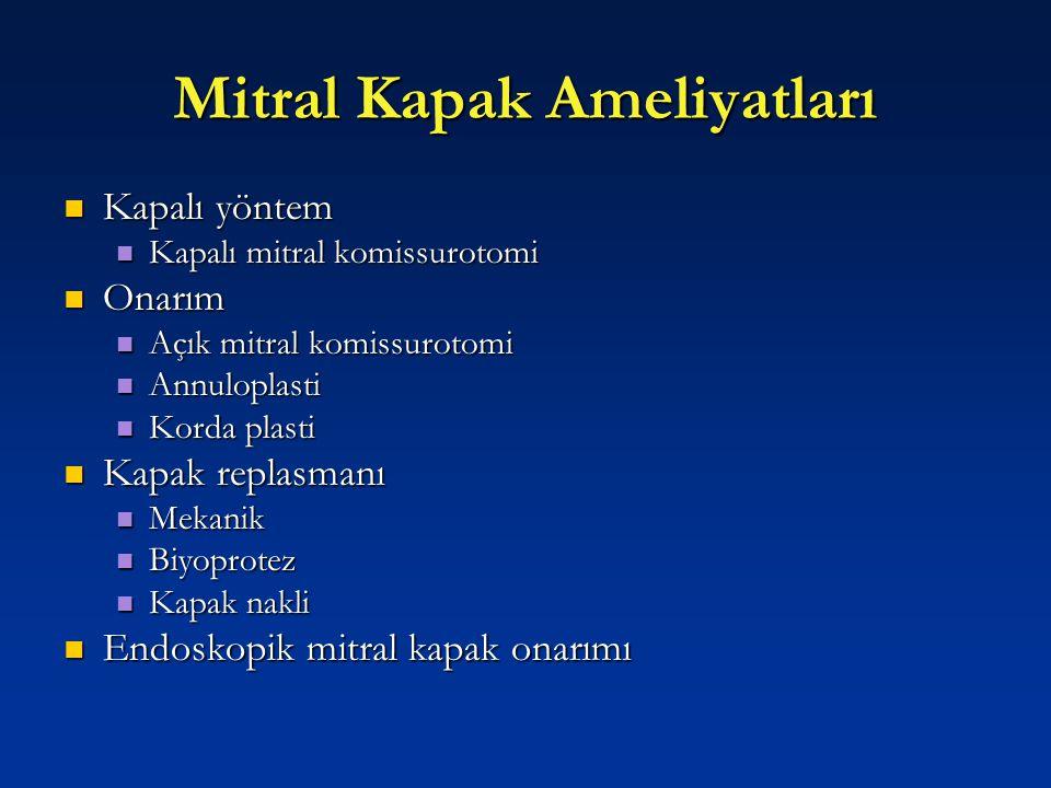 Mitral Kapak Ameliyatları