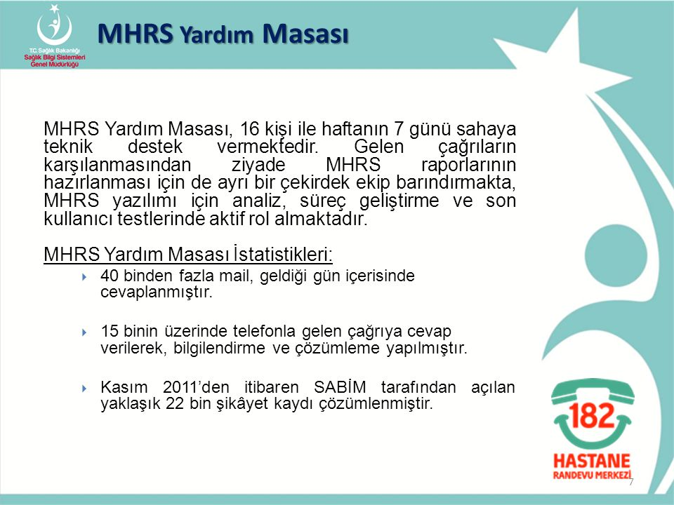 MHRS Yardım Masası