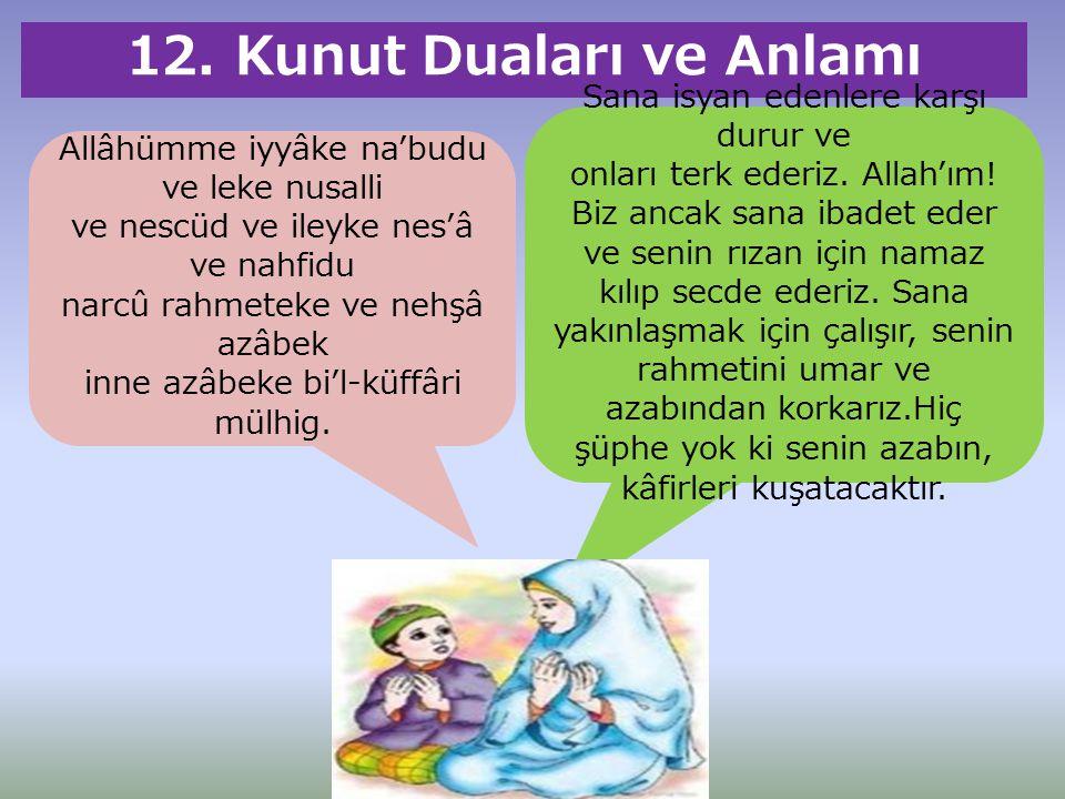 12. Kunut Duaları ve Anlamı