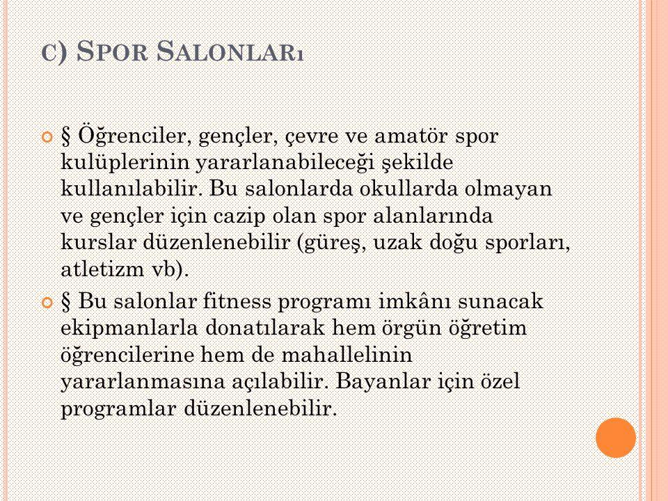 c) Spor Salonları