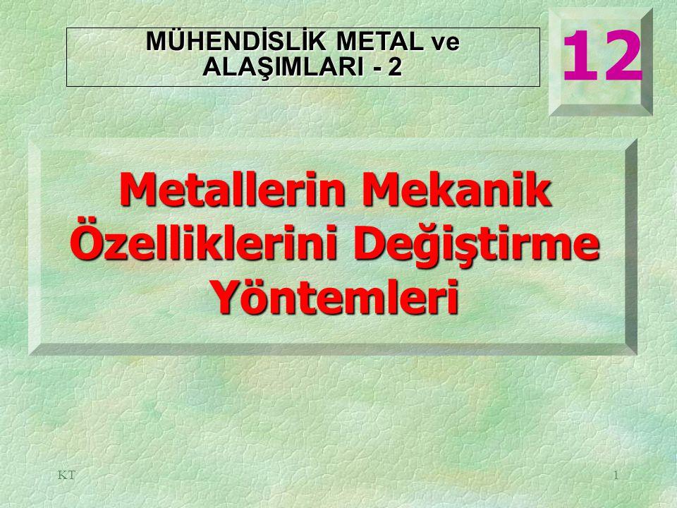 12 Metallerin Mekanik Özelliklerini Değiştirme Yöntemleri