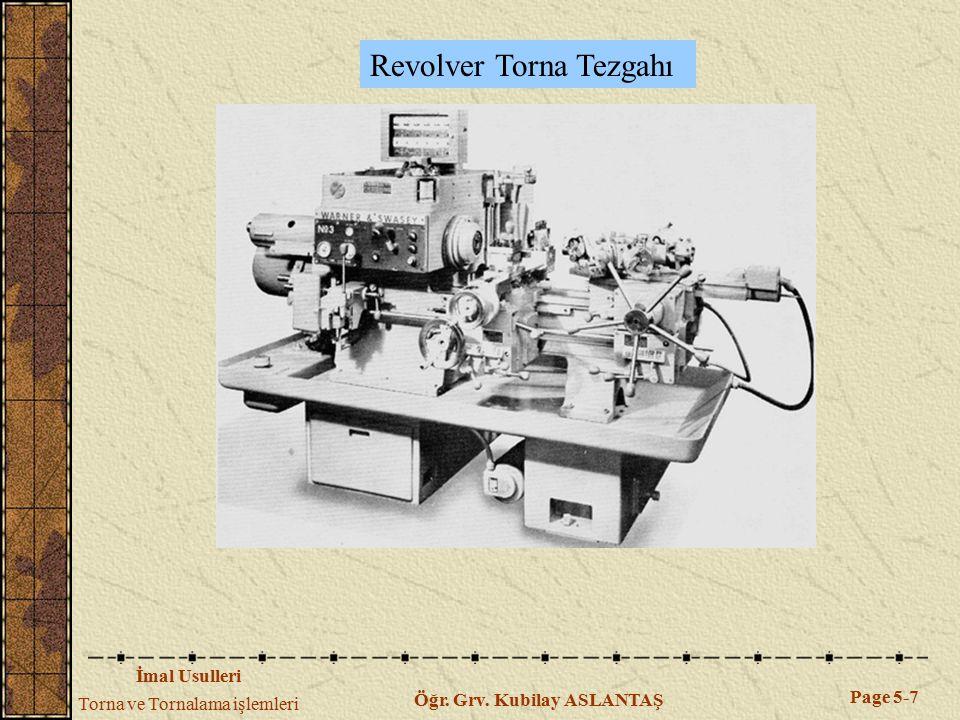 Revolver Torna Tezgahı