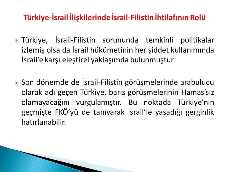 Türkiye-İsrail İlişkilerinde İsrail-Filistin İhtilafının Rolü