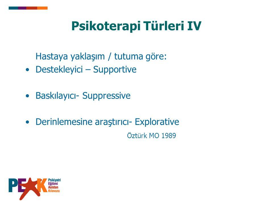 Psikoterapi Türleri IV