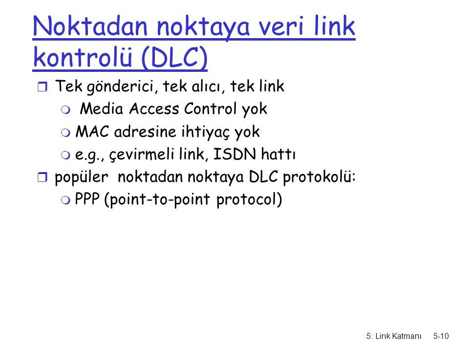 Noktadan noktaya veri link kontrolü (DLC)