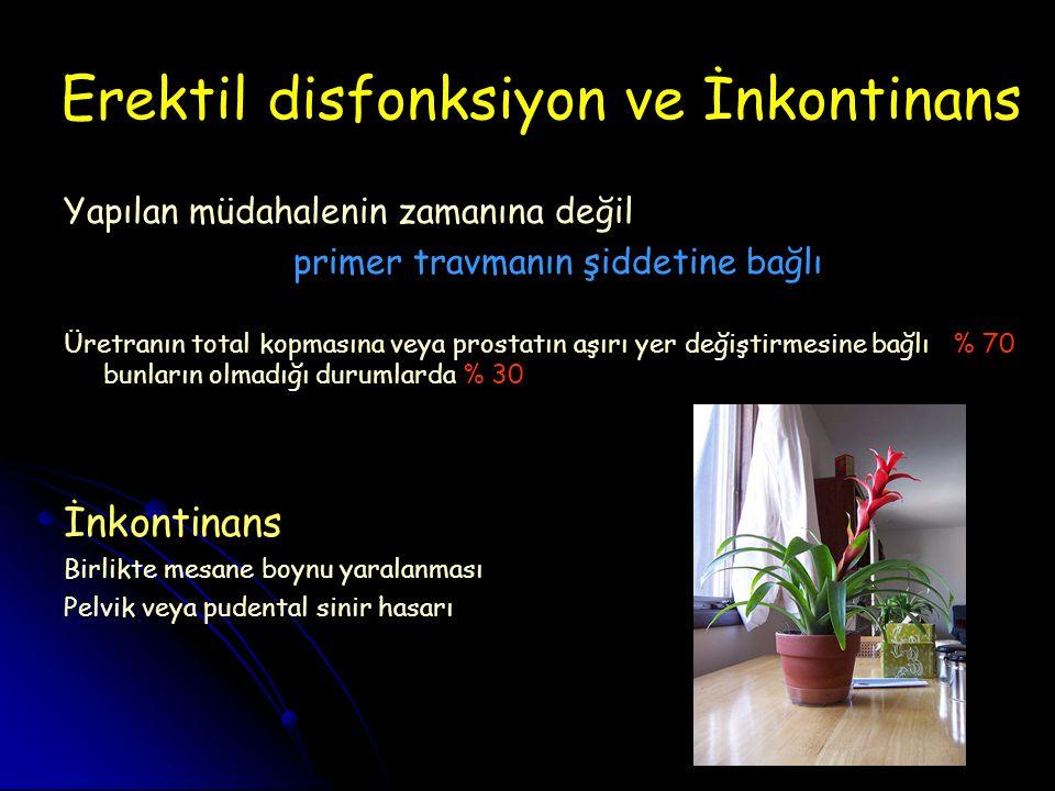 Erektil disfonksiyon ve İnkontinans