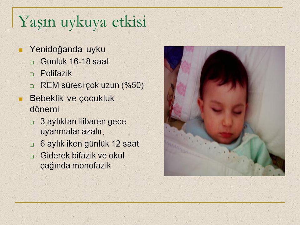 Yaşın uykuya etkisi Yenidoğanda uyku Bebeklik ve çocukluk dönemi