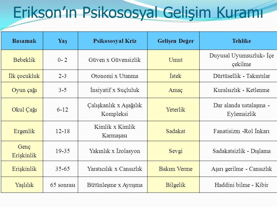 Erikson'ın Psikososyal Gelişim Kuramı