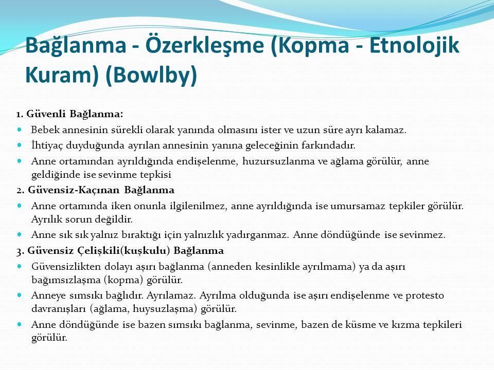 Bağlanma - Özerkleşme (Kopma - Etnolojik Kuram) (Bowlby)