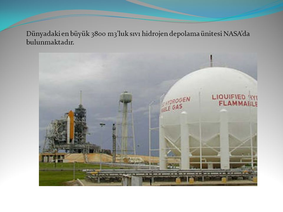 Dünyadaki en büyük 3800 m3'luk sıvı hidrojen depolama ünitesi NASA'da