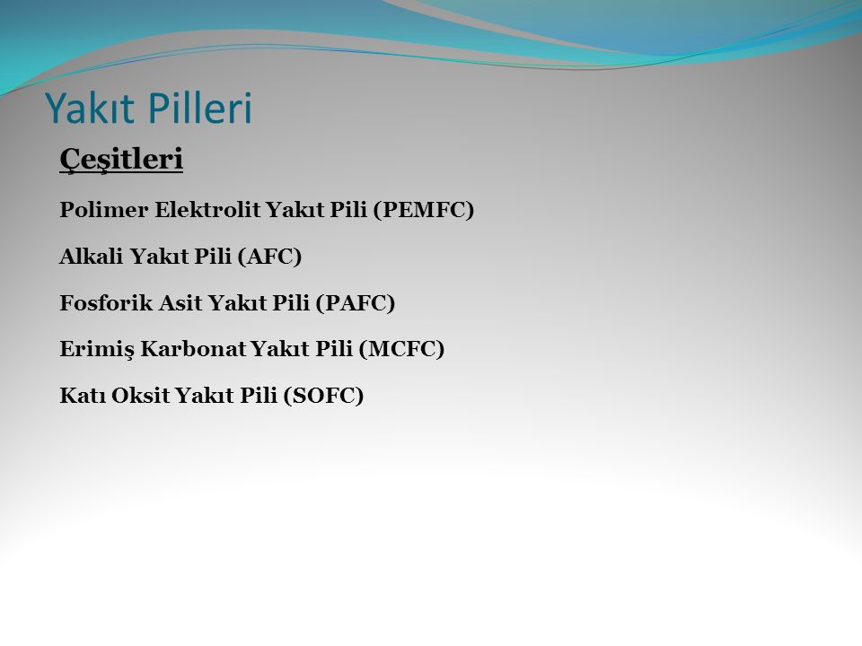 Yakıt Pilleri Çeşitleri Polimer Elektrolit Yakıt Pili (PEMFC)