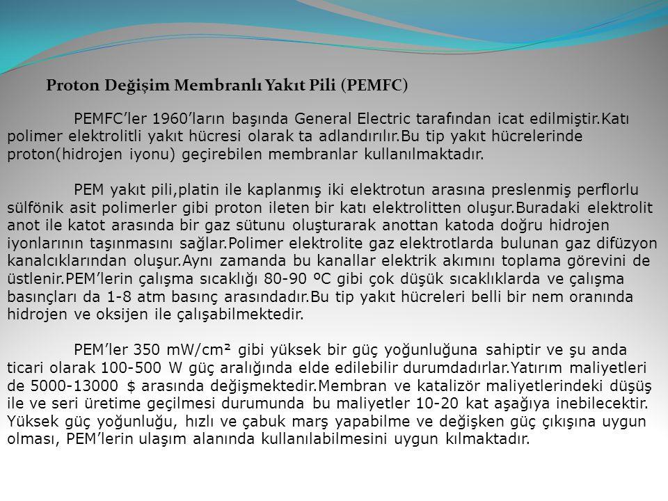 Proton Değişim Membranlı Yakıt Pili (PEMFC)