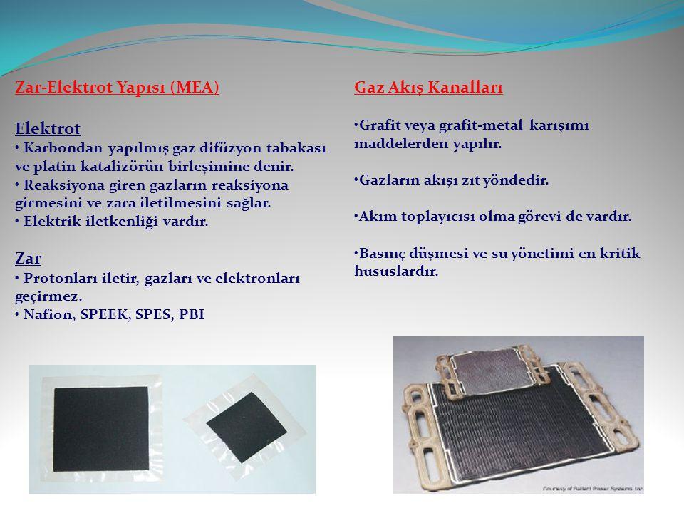 Zar-Elektrot Yapısı (MEA) Elektrot