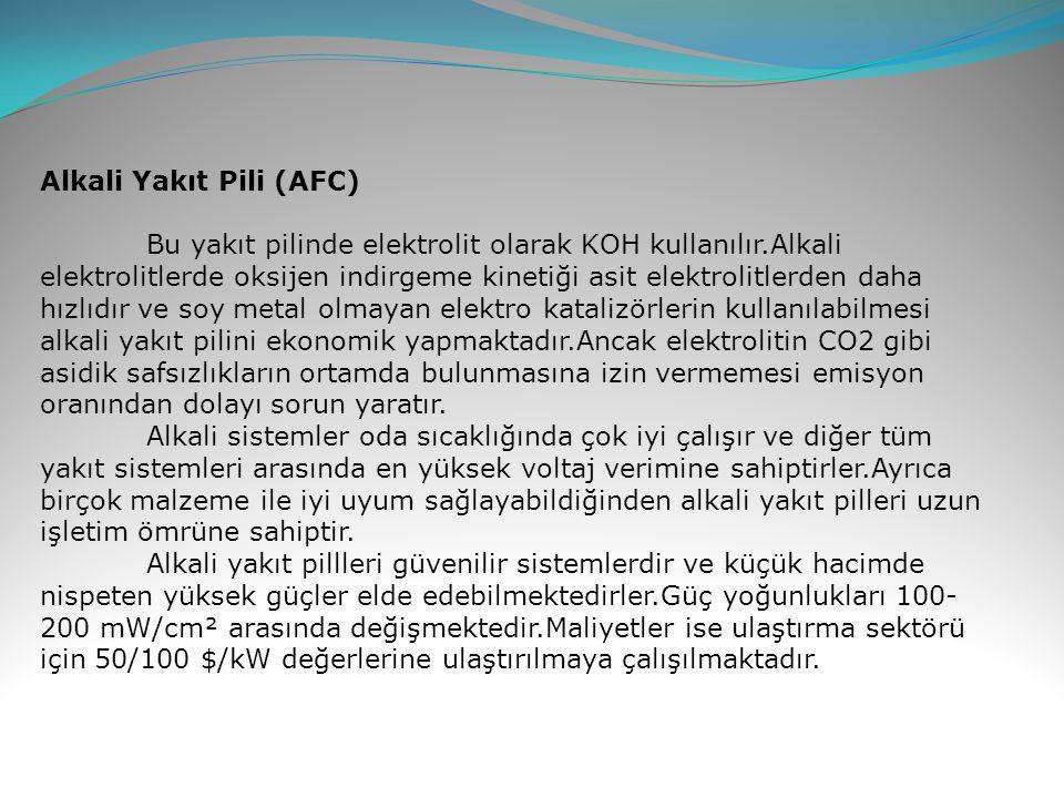 Alkali Yakıt Pili (AFC)