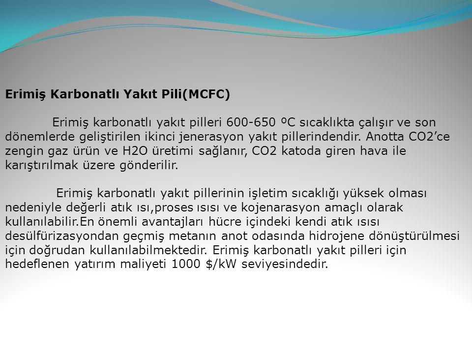 Erimiş Karbonatlı Yakıt Pili(MCFC)