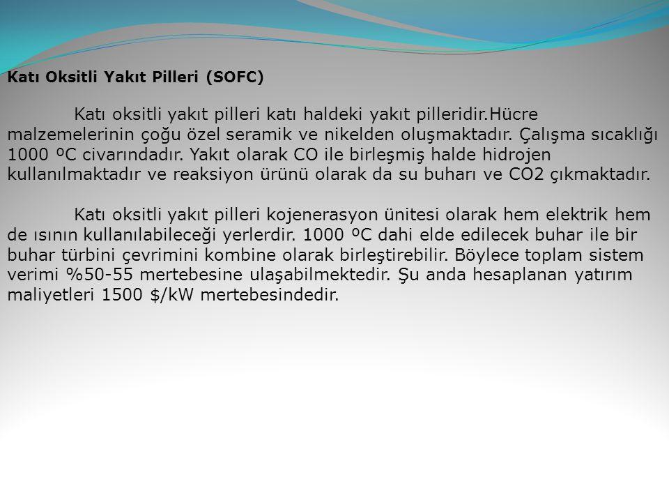 Katı Oksitli Yakıt Pilleri (SOFC)