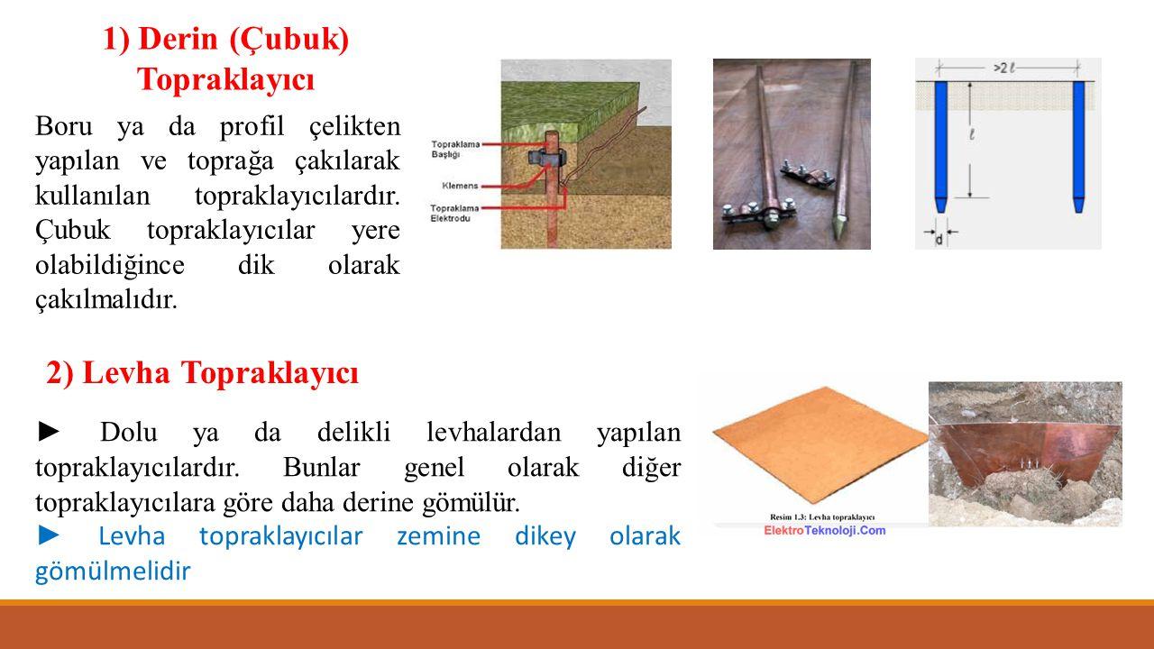1) Derin (Çubuk) Topraklayıcı