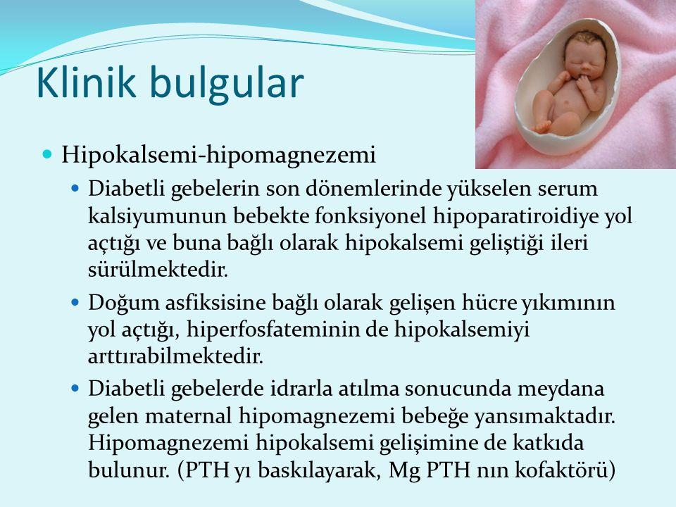 Klinik bulgular Hipokalsemi-hipomagnezemi