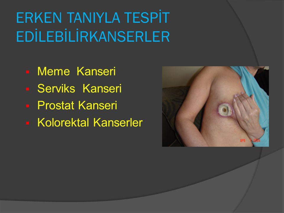 ERKEN TANIYLA TESPİT EDİLEBİLİRKANSERLER