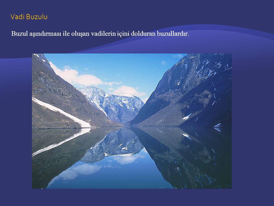Vadi Buzulu Buzul aşındırması ile oluşan vadilerin içini dolduran buzullardır.