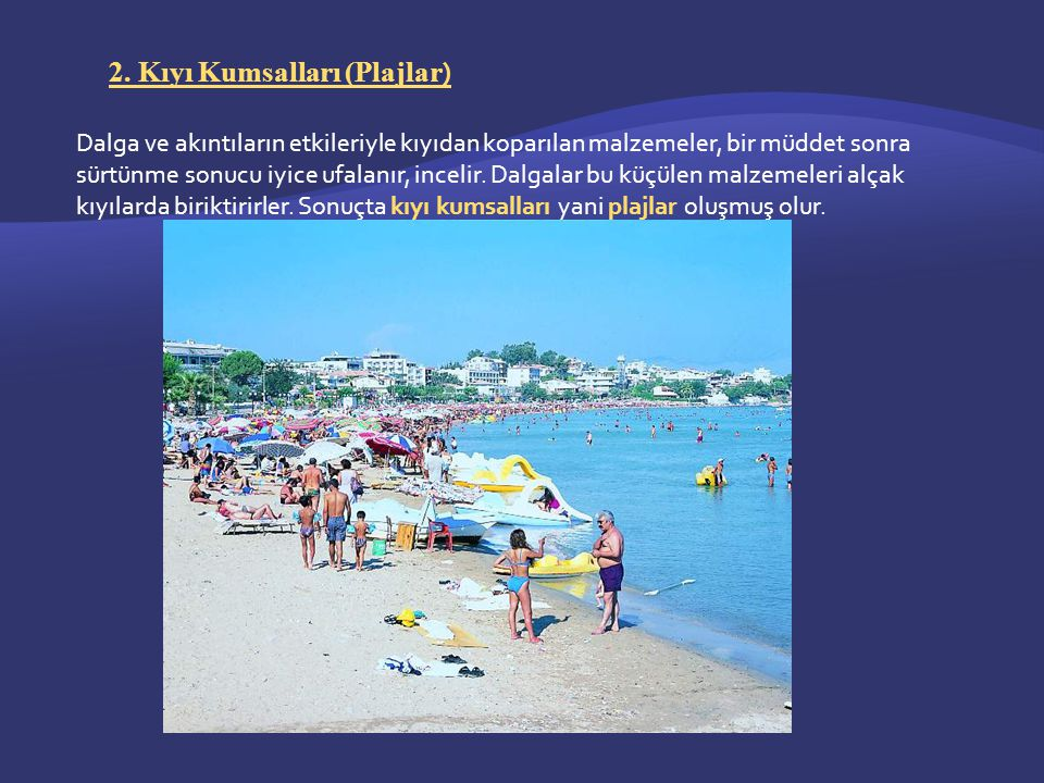 2. Kıyı Kumsalları (Plajlar)