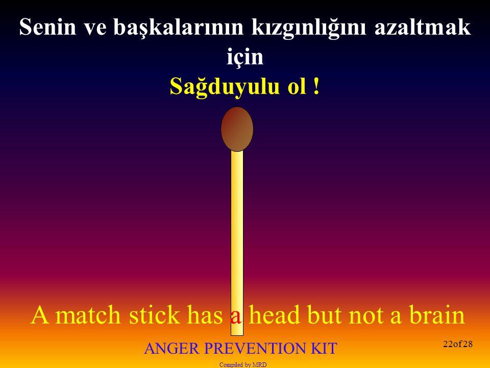 Senin ve başkalarının kızgınlığını azaltmak için Sağduyulu ol !