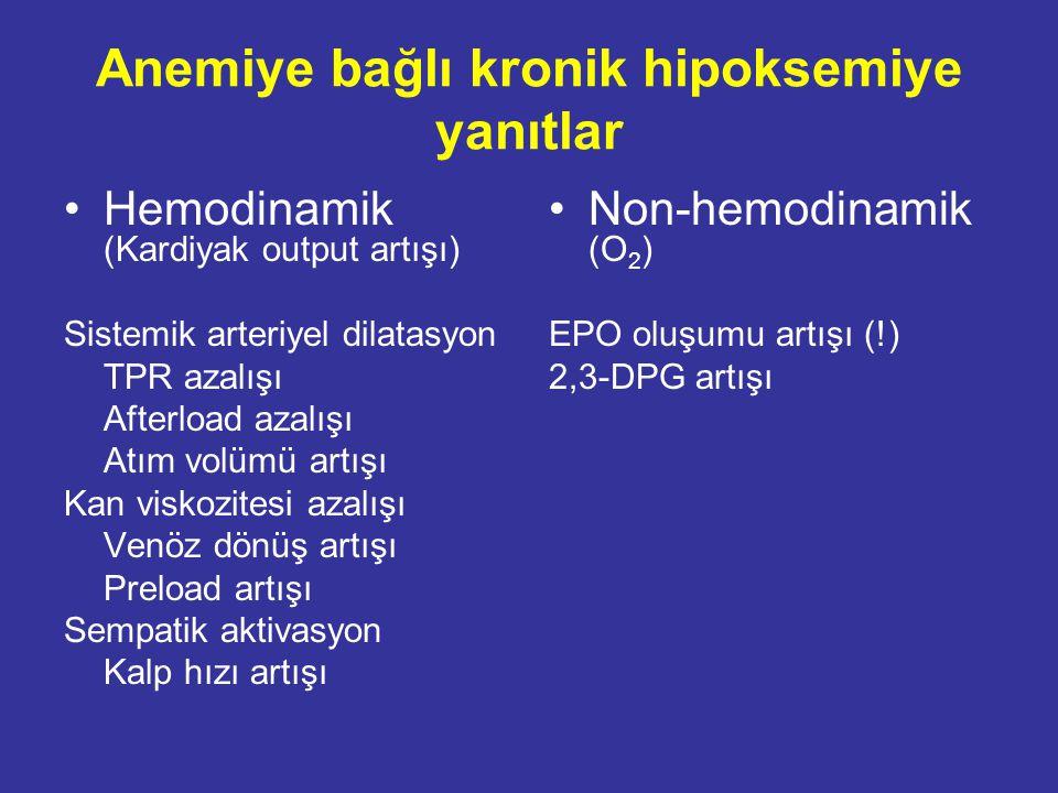 Anemiye bağlı kronik hipoksemiye yanıtlar