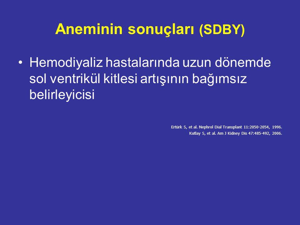 Aneminin sonuçları (SDBY)