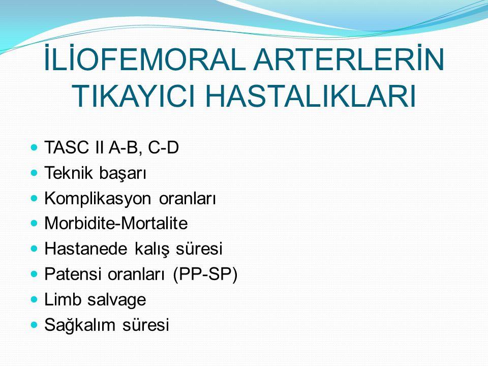 İLİOFEMORAL ARTERLERİN TIKAYICI HASTALIKLARI