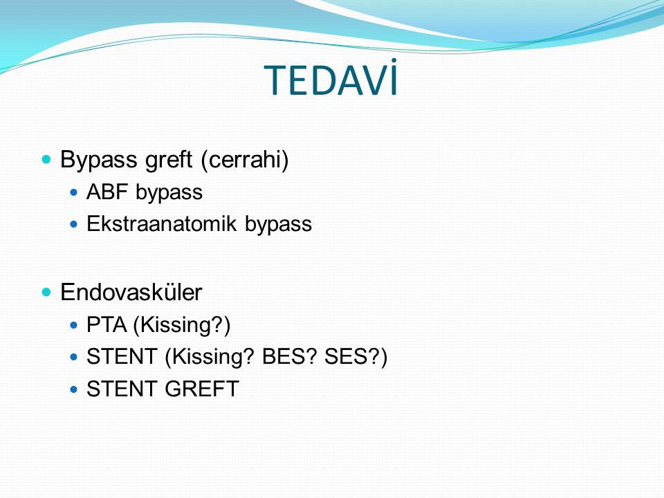TEDAVİ Bypass greft (cerrahi) Endovasküler ABF bypass