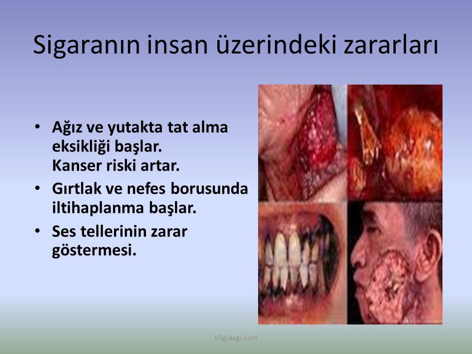 Sigaranın insan üzerindeki zararları