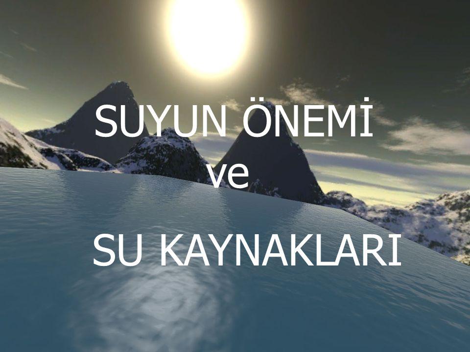 SUYUN ÖNEMİ ve SU KAYNAKLARI