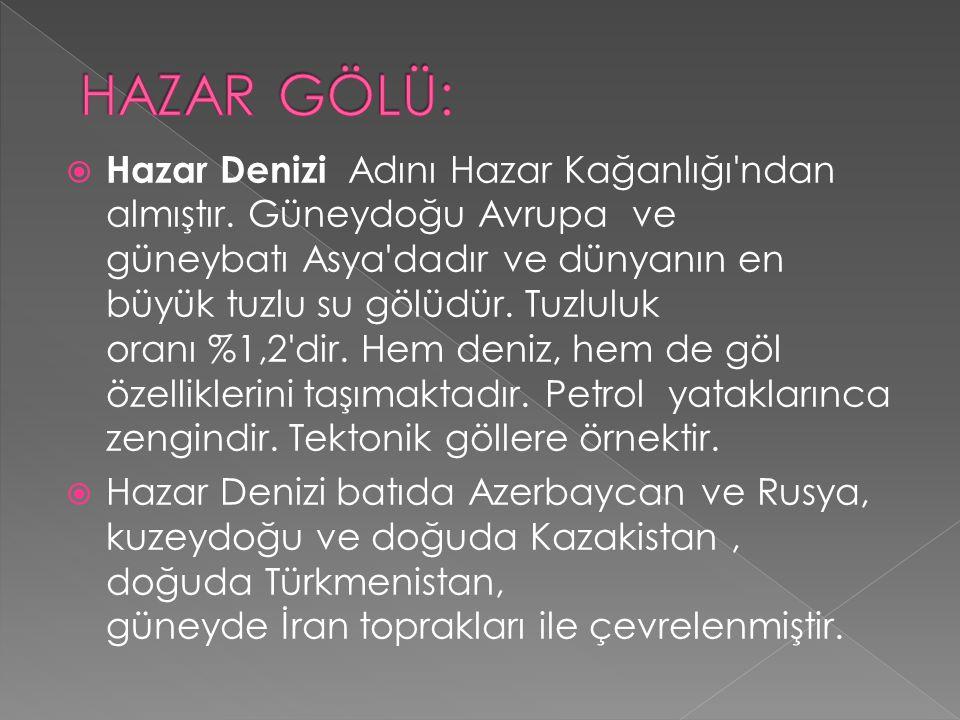 HAZAR GÖLÜ: