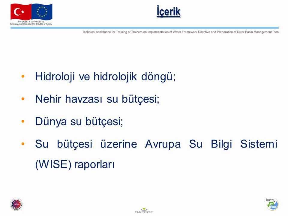İçerik Hidroloji ve hidrolojik döngü; Nehir havzası su bütçesi; Dünya su bütçesi; Su bütçesi üzerine Avrupa Su Bilgi Sistemi (WISE) raporları.
