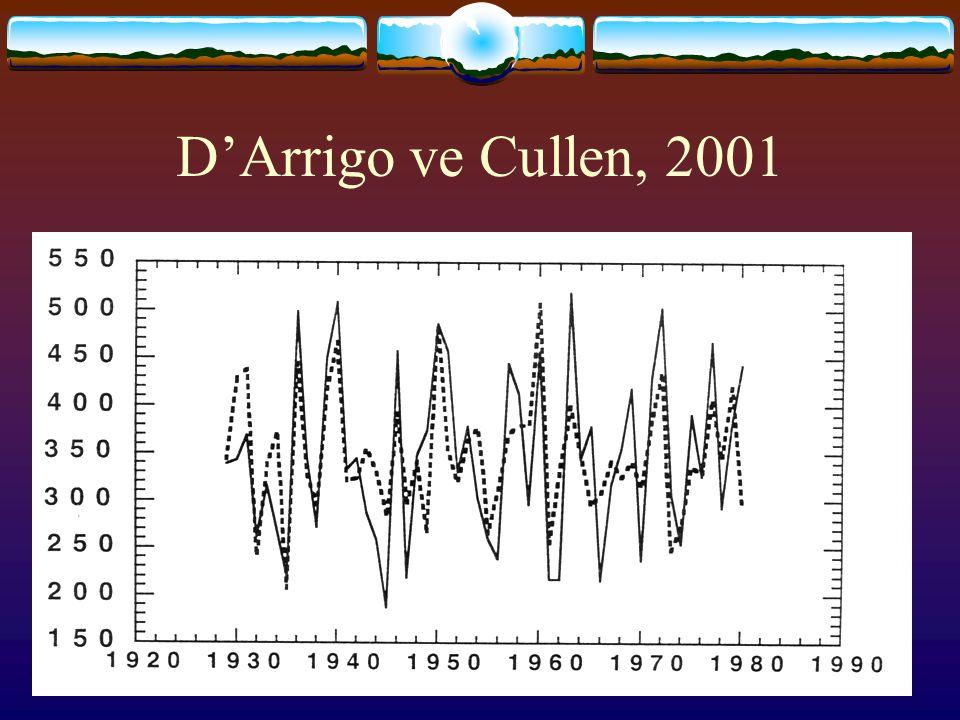 D'Arrigo ve Cullen, 2001