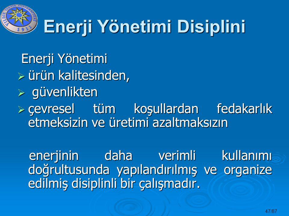 Enerji Yönetimi Disiplini