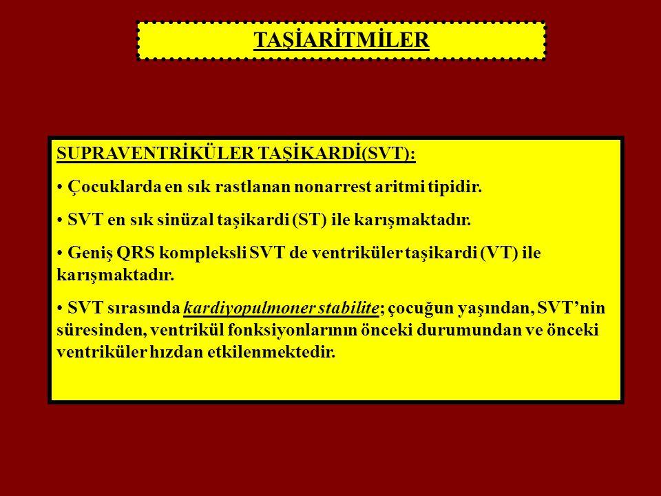 TAŞİARİTMİLER SUPRAVENTRİKÜLER TAŞİKARDİ(SVT):