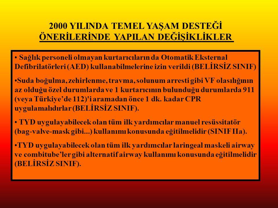2000 YILINDA TEMEL YAŞAM DESTEĞİ ÖNERİLERİNDE YAPILAN DEĞİŞİKLİKLER