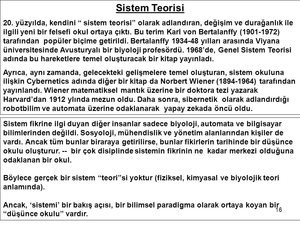 Sistem Teorisi