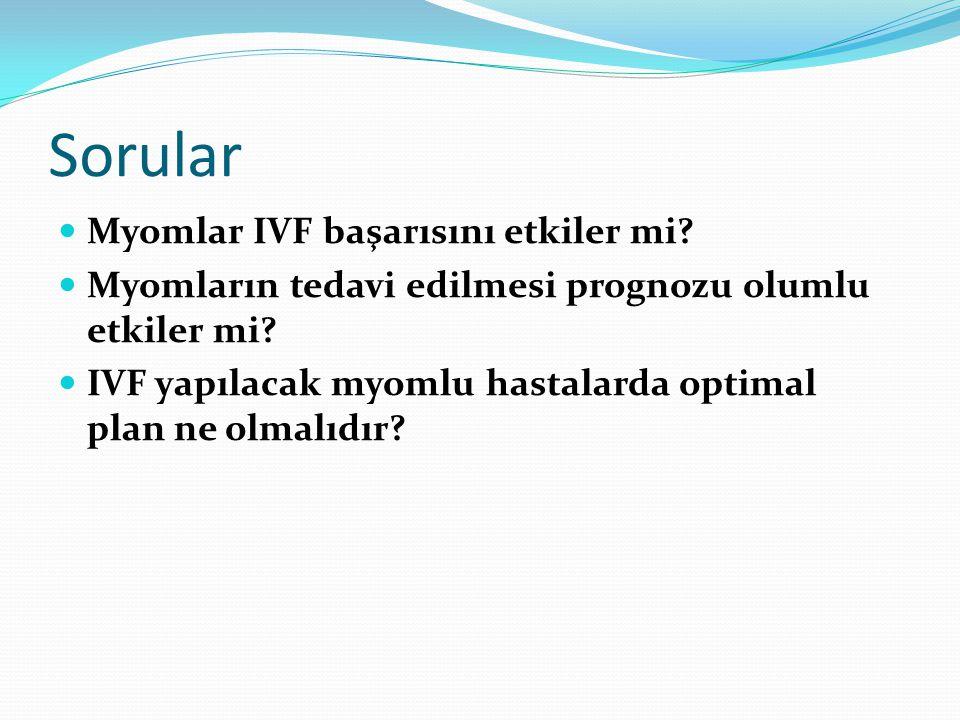 Sorular Myomlar IVF başarısını etkiler mi