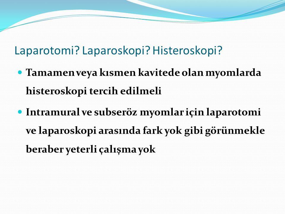 Laparotomi Laparoskopi Histeroskopi