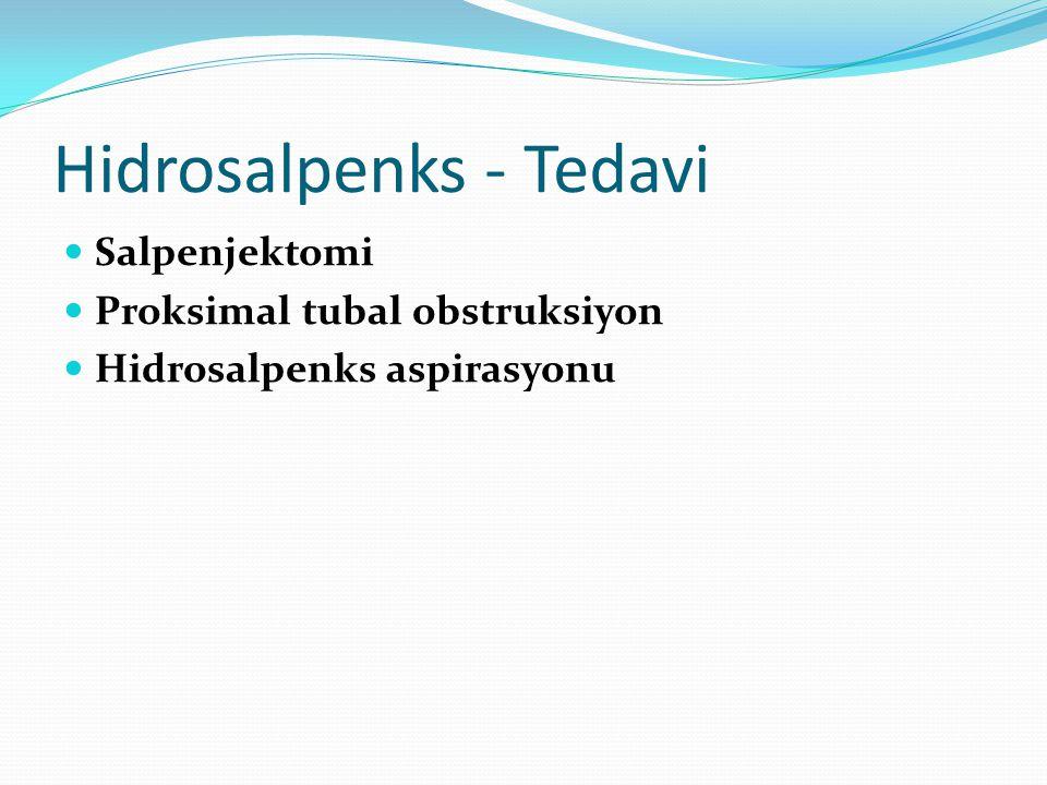 Hidrosalpenks - Tedavi