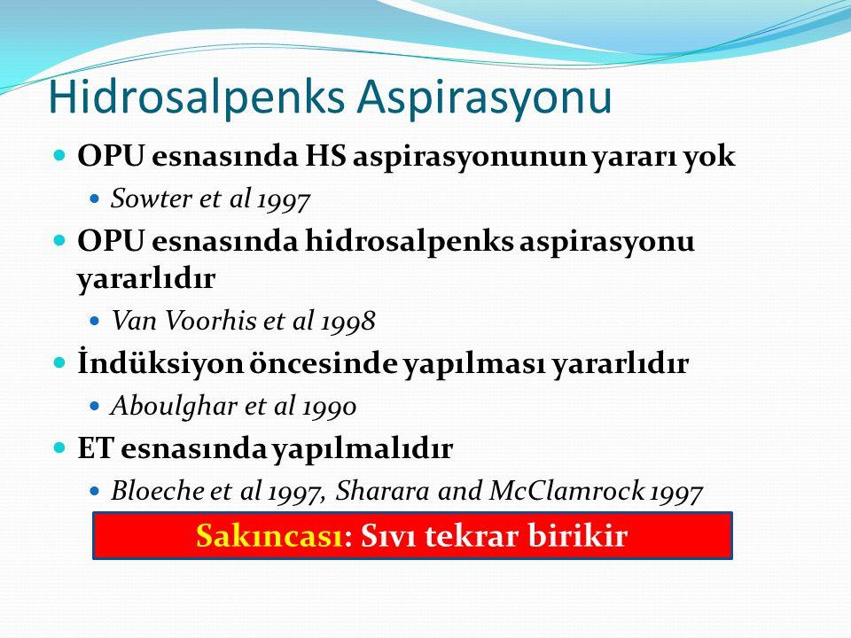 Hidrosalpenks Aspirasyonu