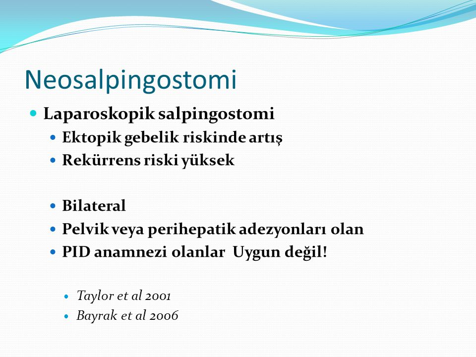 Neosalpingostomi Laparoskopik salpingostomi